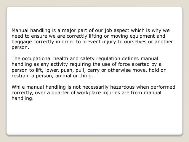 how to prevent manual handling injuries