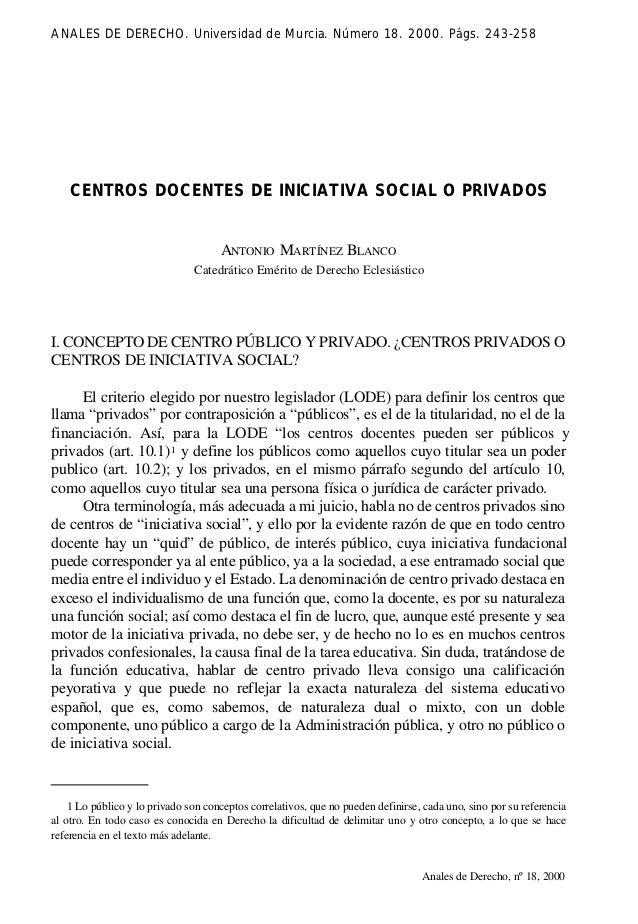 243-258.qxd 26/11/2001 22:12 Page 243             ANALES DE DERECHO. Universidad de Murcia. Número 18. 2000. Págs. 243-258...