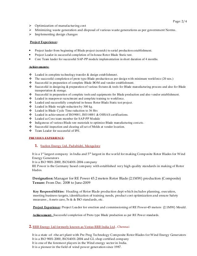 Fine Vestas Wind Energy Resume Photo - Administrative Officer Cover ...