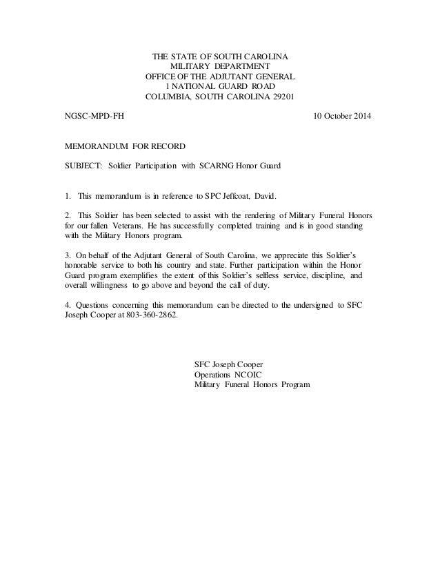Letter of Good Standing SPC Jeffcoat