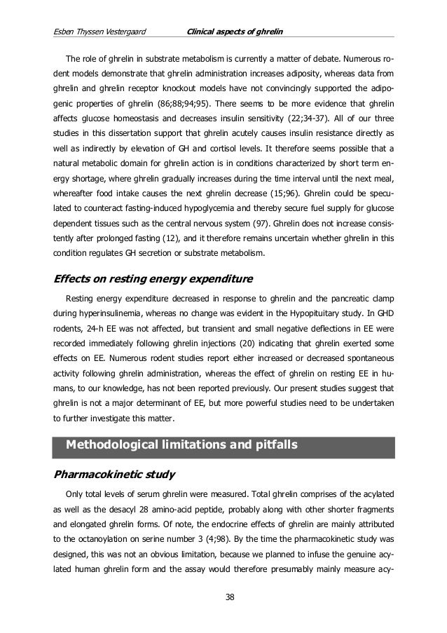 ghrelin thesis The metabolic hormones ghrelin, growth hormone, and insulin-like growth factor i are influenced by developmental age, sex, and nutritional status in domestic and free-ranging species however the role these hormones play has not previously been explored in sub-tropical/ tropical mammals.