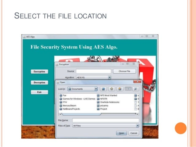 SELECT THE FILE LOCATION