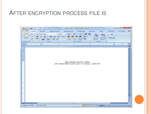 AFTER ENCRYPTION PROCESS FILE IS