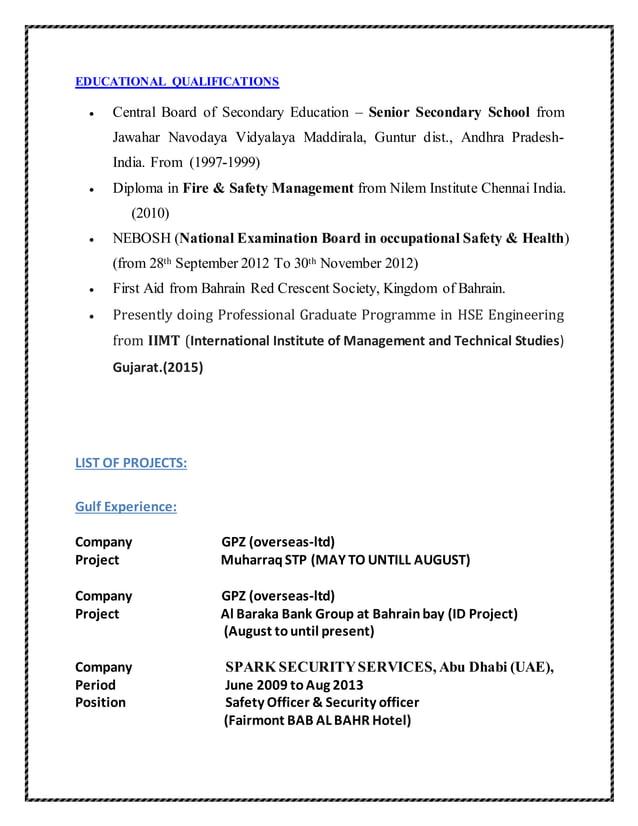 EDUCATIONAL QUALIFICATIONS  Central Board of Secondary Education – Senior Secondary School from Jawahar Navodaya Vidyalay...