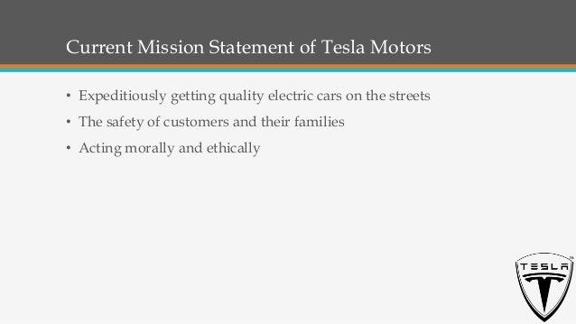Tesla mission and vision