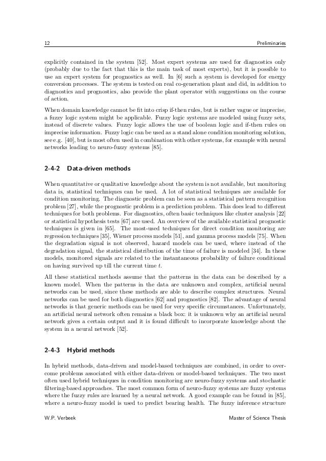 condition monitoring thesis Improved condition monitoring (phd thesis) - ebook download as pdf file (pdf), text file (txt) or read book online thesis submitted to the university of manchester - faculty of.