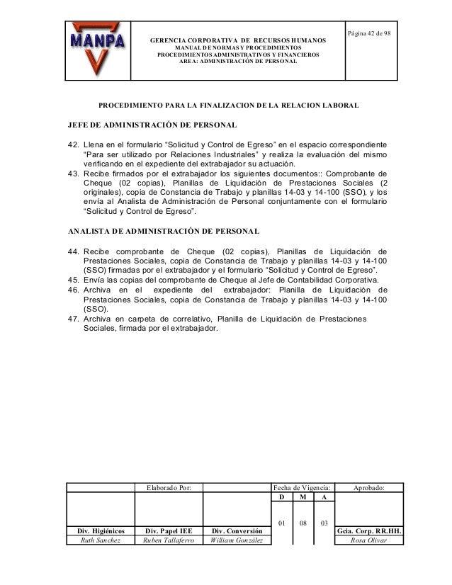 57866378 modelo manual de normas y procedimientos rrhh for Manual de procedimientos de una empresa de alimentos