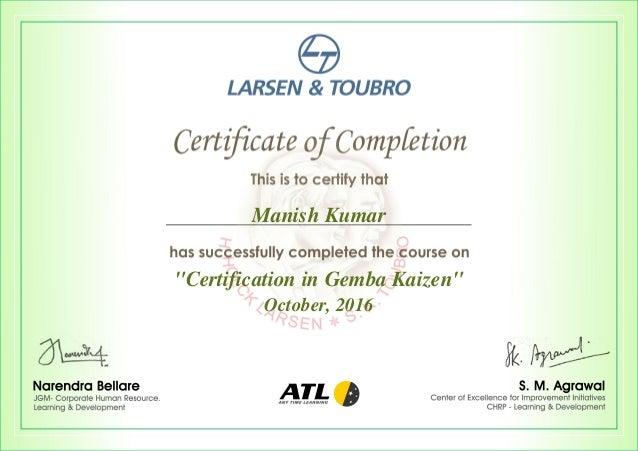 Certification in Gemba Kaizen_20023386
