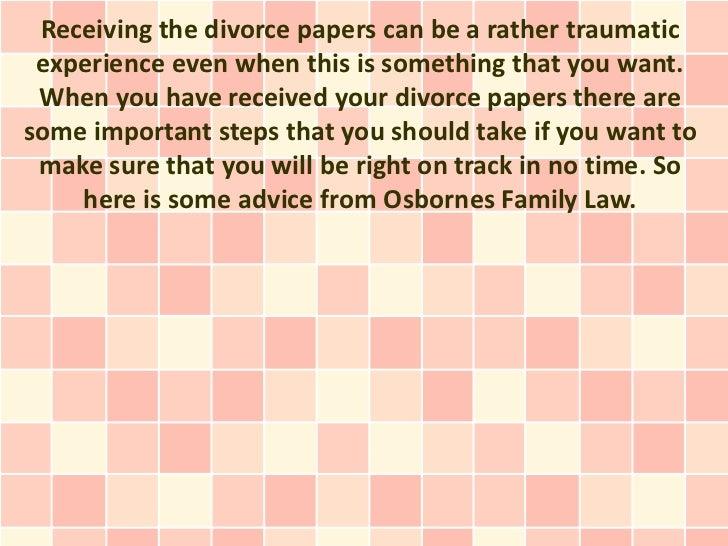 Divorce experience essay