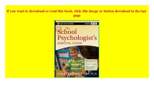 The School Psychologists Survival Guide
