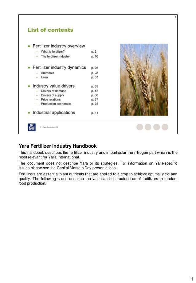 Yara Fertilizer Industry Handbook