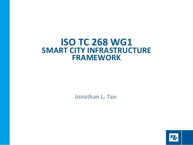 ISO TC 268 WG1 SMART CITY INFRASTRUCTURE FRAMEWORK Jonathan L. Tan