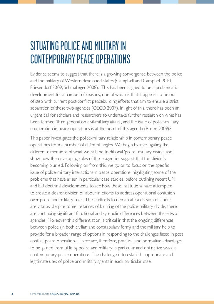 police operations paper Our work the npcc brings police forces in the uk together to help policing coordinate operations, reform, improve and provide value for money reform and transformation.
