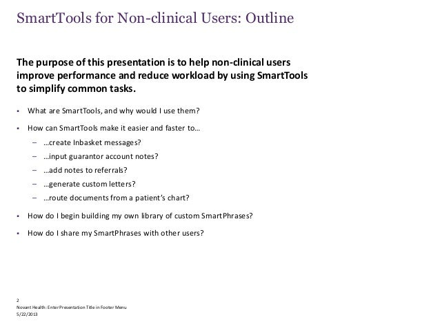 Ugm 2014 Smarttools For Non-Clinical Users