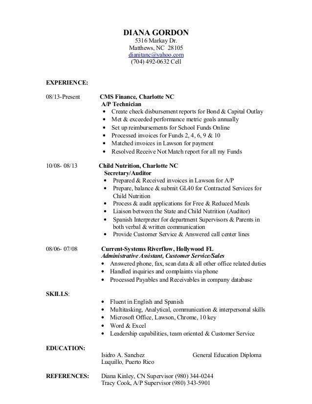 Diana Gordon Resume 9 29 16