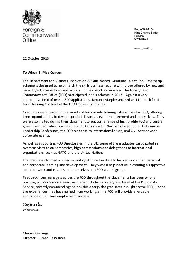 End Of Placement Reference Letter Template With Menna