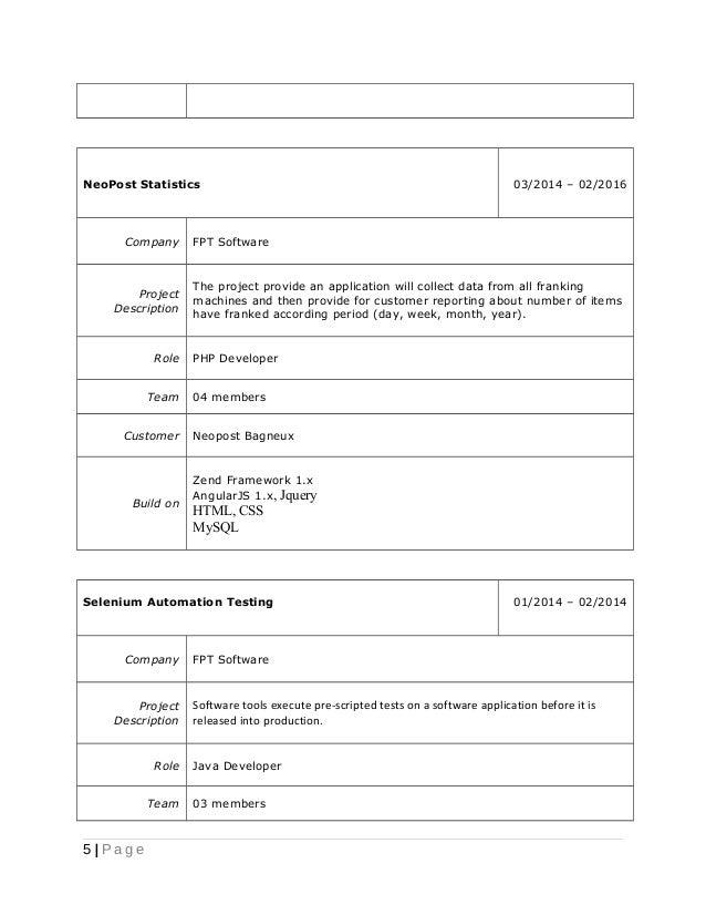 php cv template