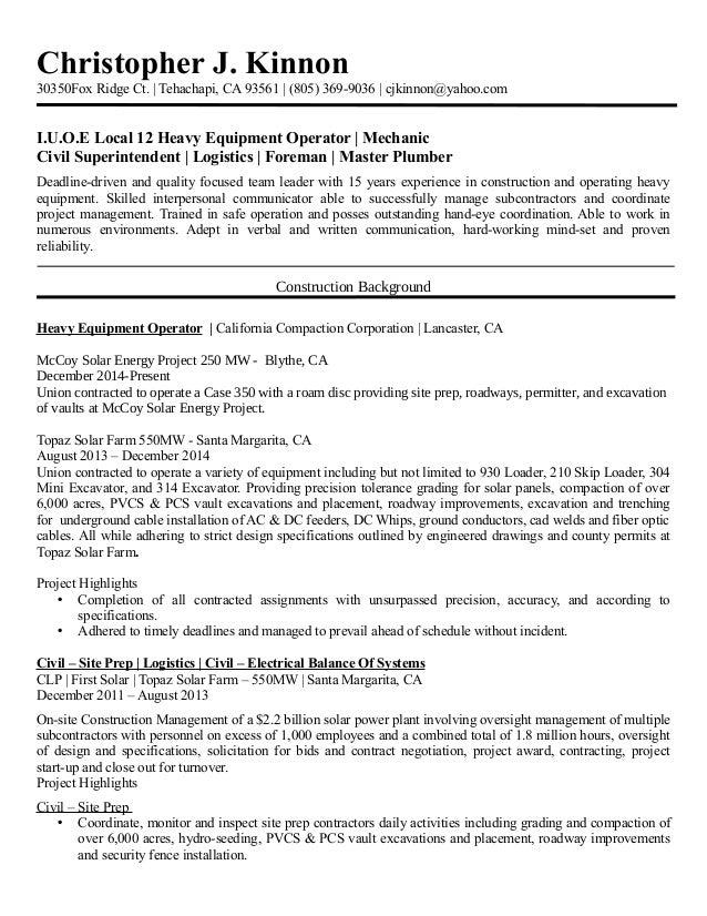 master plumber resume