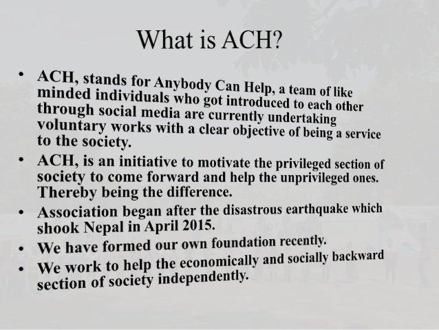 ACH Profile 2016 Slide 2