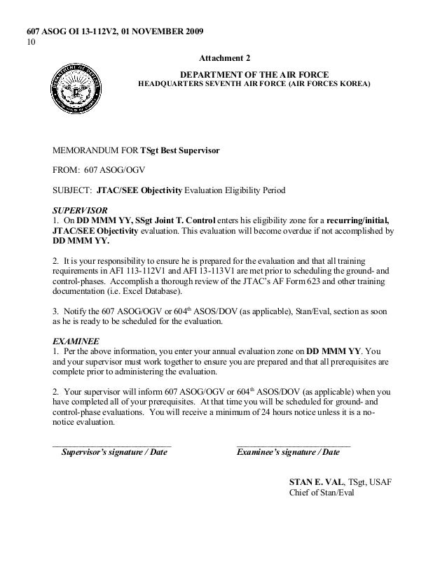 expired-607-asog-standards-evaluation-program-10-638 Army Form Example on achievement examples da, commendation medal, letter release, fillable da form, certificate achievement da, award da form, ets award examples da form, coa example da, award da,