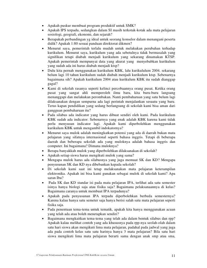 57 Laporan Umum Banprof Tpk Kab Kota