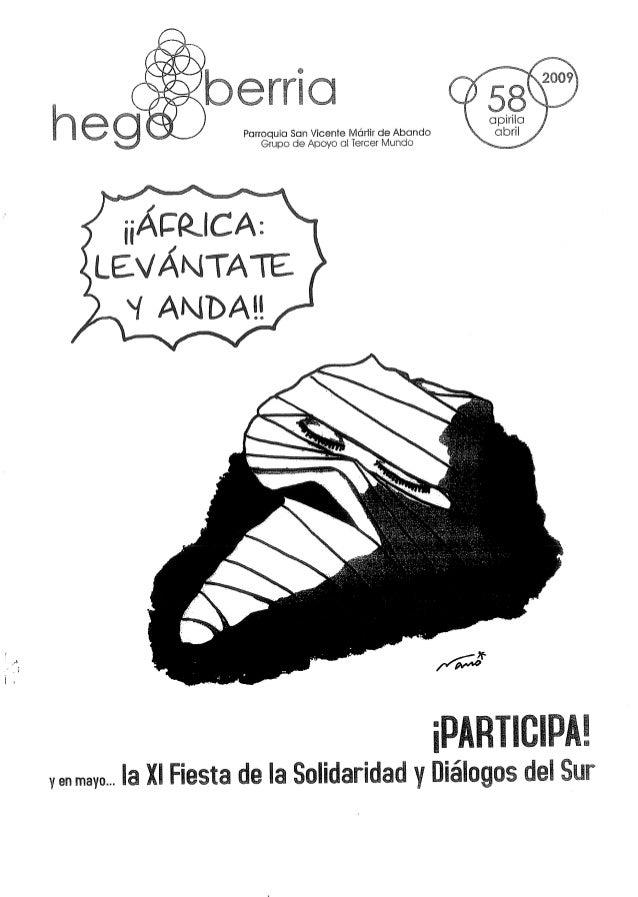 LEVÁNTATE  v ANDAH  ¡PARÏIGEPAE yen mayo. .. la XI Fiesta dela Solidaridad y Diálogos de!  Sur