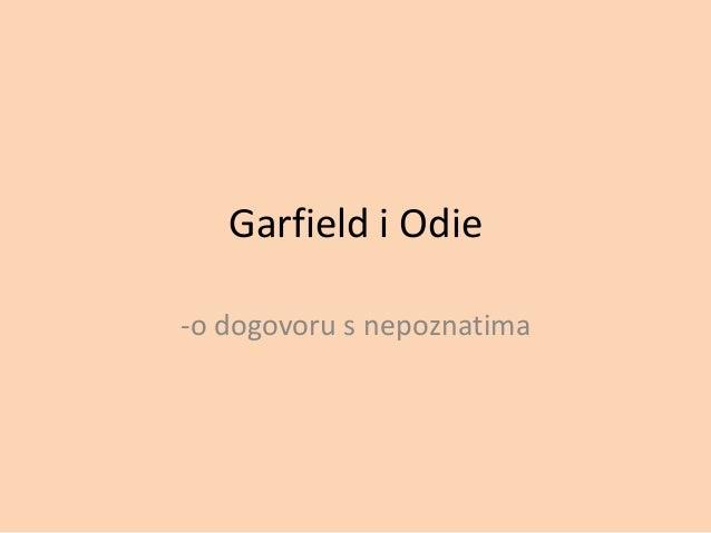 Garfield i Odie-o dogovoru s nepoznatima
