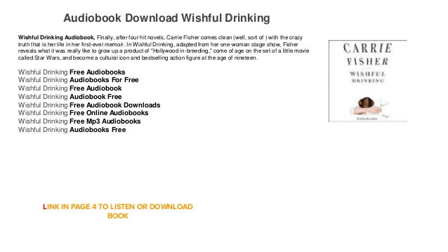 Wishful Drinking by Carrie Fisher audio book | Simply ...