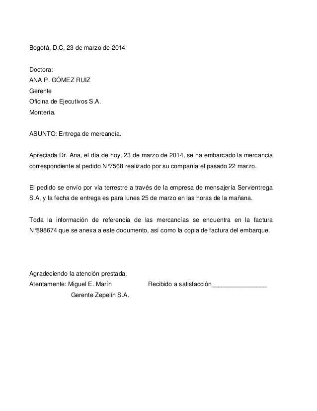 cartas de pedidos