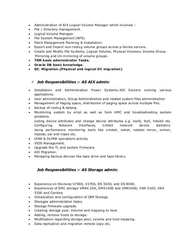 aix administator resume