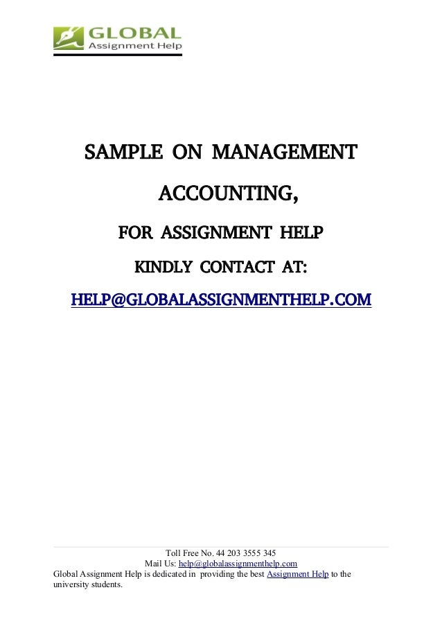 management accounting assignment sample global assignment help 4