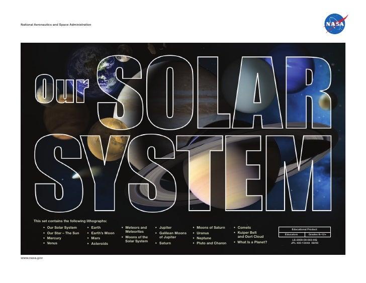National Aeronautics and Space Administration National Aeronautics and Space Administration             This set contains ...
