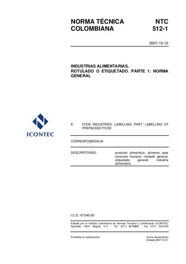 58307982 ntc-512-1-rotulado-o-etiquetado-normas-generales
