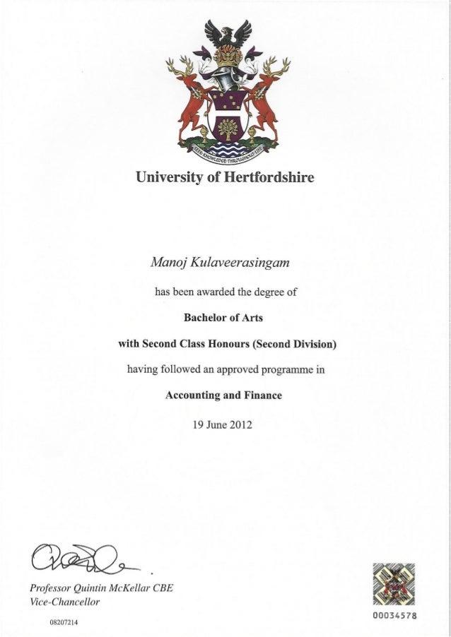 Manoj Certificates & Diplômes