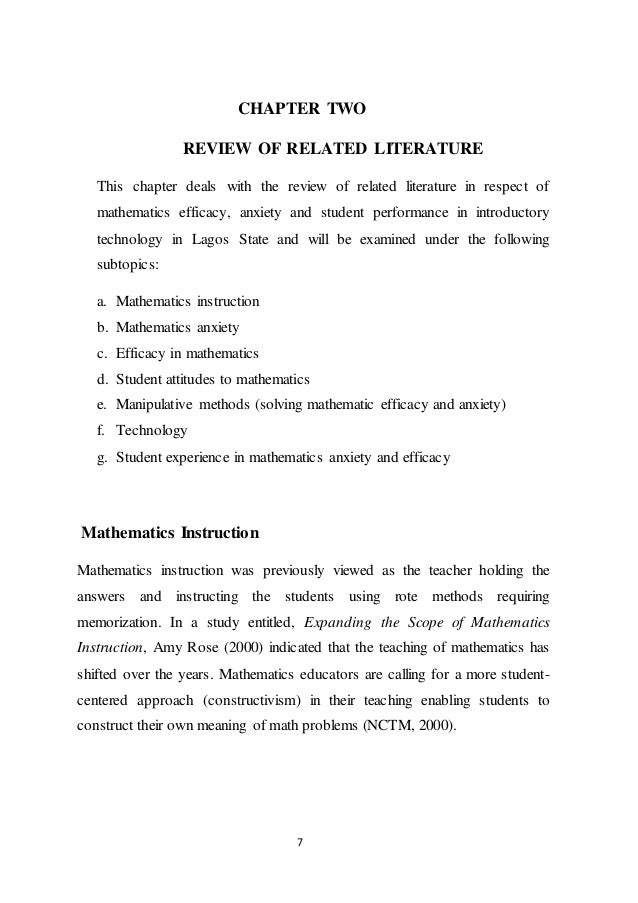literature review on math manipulatives