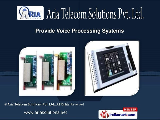 Provide Voice Processing Systems