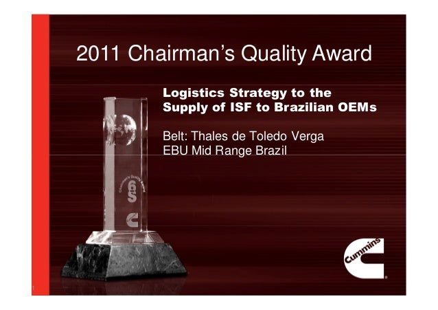 Six sigma 2011 powerpoint template award thales de toledo verg 2011 chairmans quality award 1 logistics strategy to the supply of isf to brazilian oems belt toneelgroepblik Choice Image