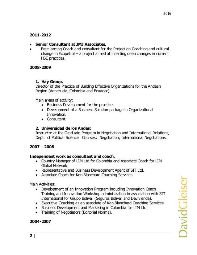 Resume David Gleiser 2016 current np eng