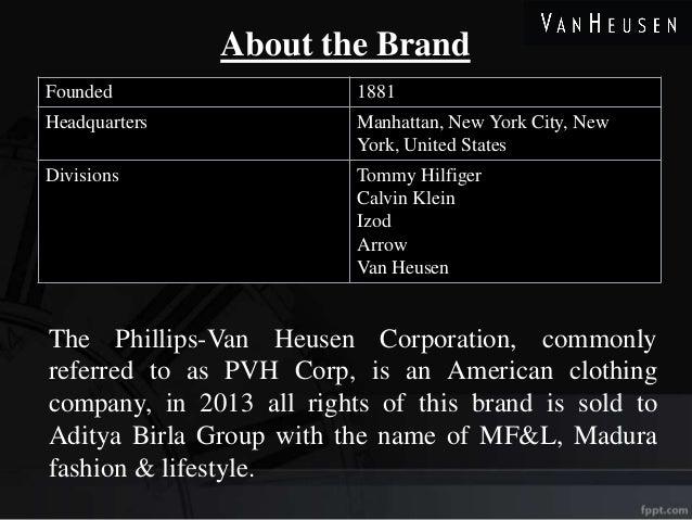 a34e753be4 Retail Ppt on Van Heusen