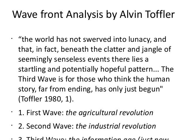 the third wave toffler