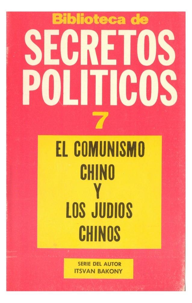 El Comunismo Chino y el Judaismo Chino.-Itsvan Bakony-