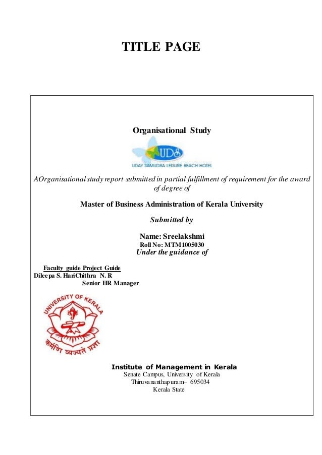 58676577 organisational study title page organisational study aorganisationalstudy report submitted in partial fulfillment of requirement for the award altavistaventures Choice Image
