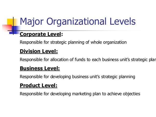 example of corporate level strategy
