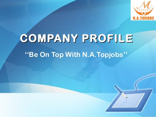 natopjobs company profile ppt, Powerpoint templates