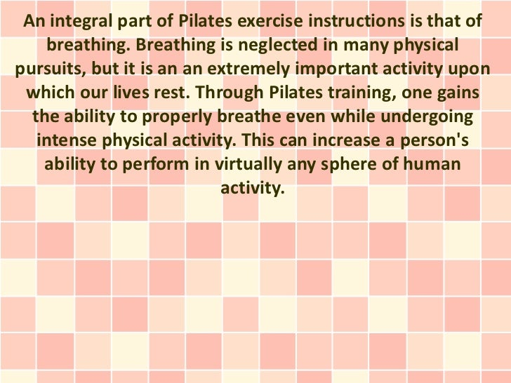 The Essence Of Pilates Exercise Instructions