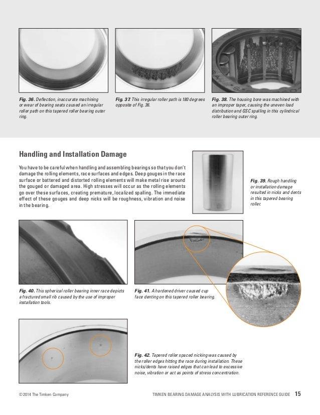 Timken Bearing Damage Analysis With Lubrication Reference
