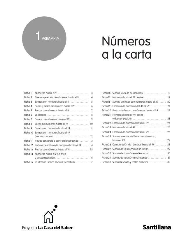 Números a la carta Ficha 1 Números hasta el 9 . . . . . . . . . . . . . . . . . . . . . . . . 3 Ficha 2 Descomposición de ...