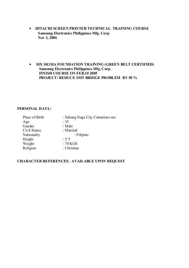 4 - My Resume Format
