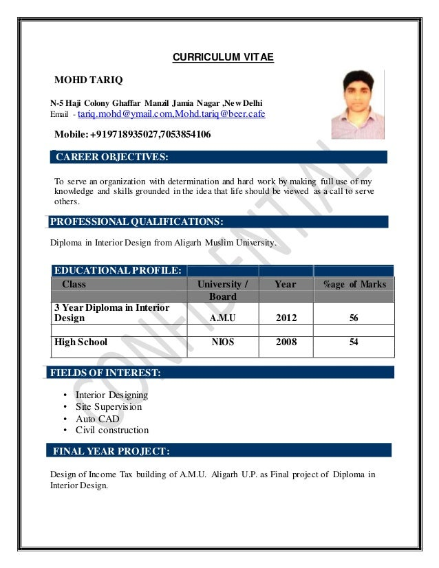 CURRICULUM VITAE MOHD TARIQ N-5 Haji Colony Ghaffar Manzil Jamia Nagar ,New Delhi Email - tariq.mohd@ymail.com,Mohd.tariq@...