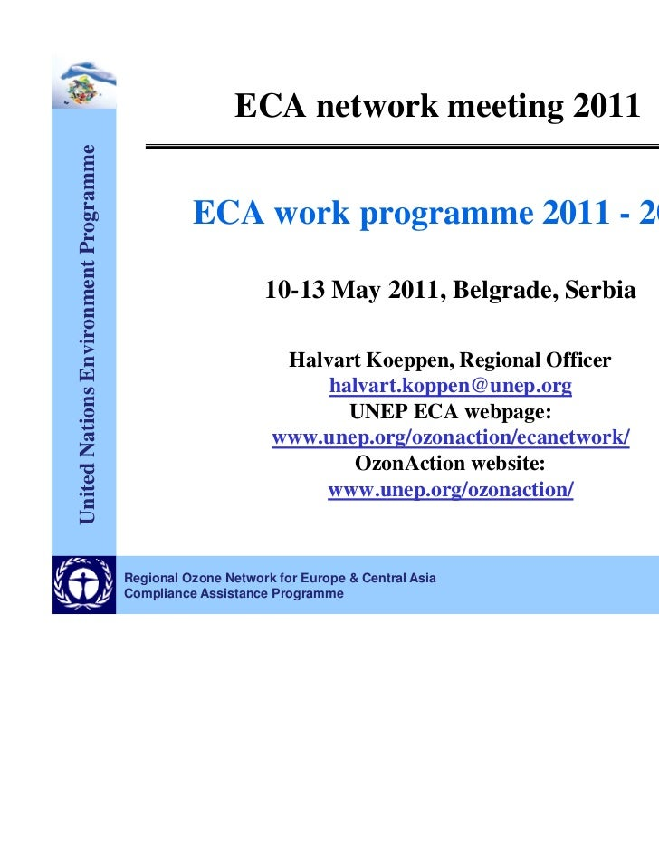 ECA network meeting 2011United Nations Environment Programme                                                 ECA work prog...